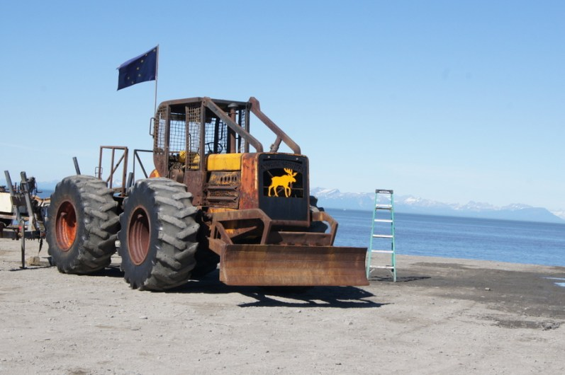 Each of the skidders has a different Alaskan animal on the front