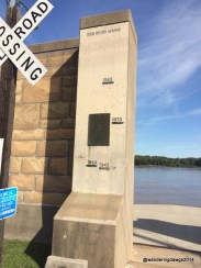 Mississippi River high water marks at Cape Giradeau