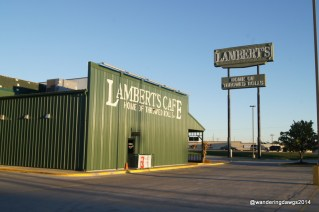 Lambert's Cafe in Springfield, Missouri