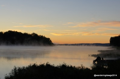 Sunrise over the Arkansas River