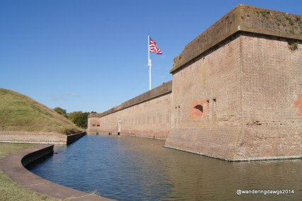 Ft. Puaski National Monument is a landmark visible from the highway as you travel east from Savannah to Tybee Island, GA