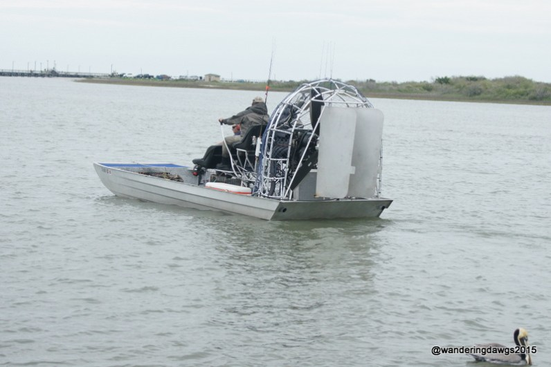 Some of the fishing charters go out in airboats