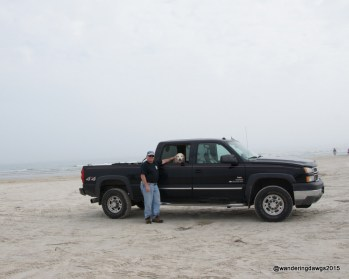 Parked on the beach at Mustang Island State P
