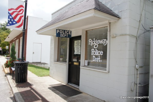 Right next to the old police station is the Ridgeway Police Department Today