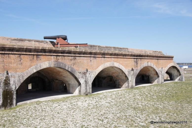 One of the cannons atop Fort Pickens