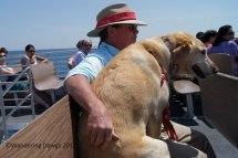 On the ferry to Mackinac Island