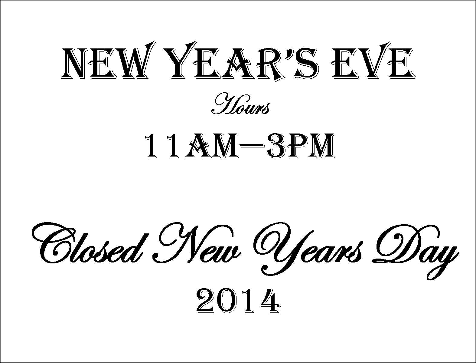 New Year's Holiday Hours   Wandering Dragon Game Shoppe ...