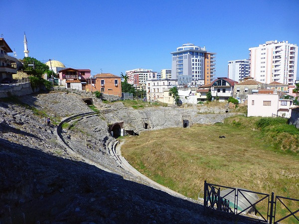 Ampitheater in Durress, Albania