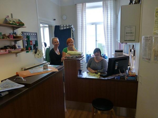 Erottajanpuisto Hostel (reception)