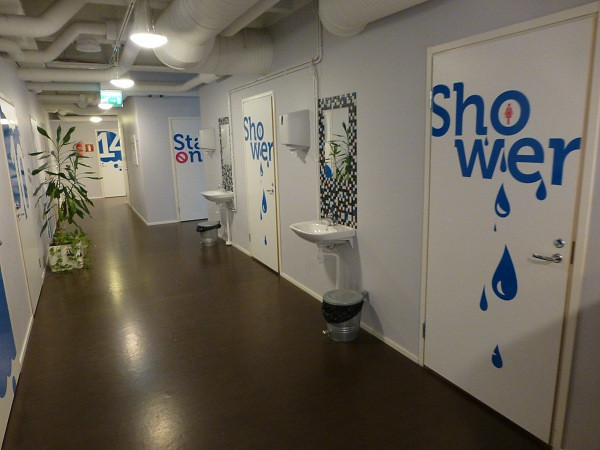 Dream Hostel, Tampere (showers)