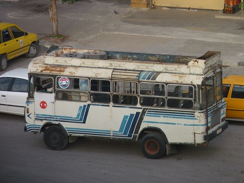 Bus in Hama, Syria