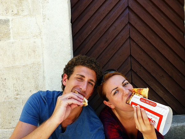 Pizza time in Kotor, Montenegro