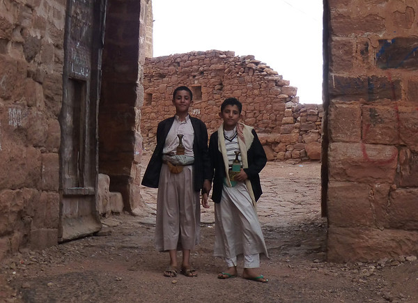 Boys wearing Jambiyas in Kawkaban