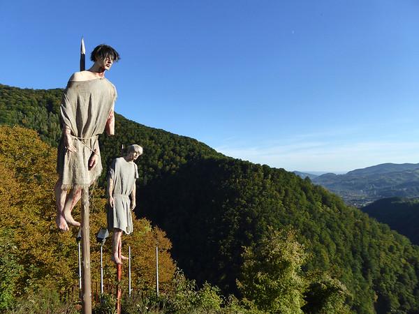 Poenari Castle - impaled people
