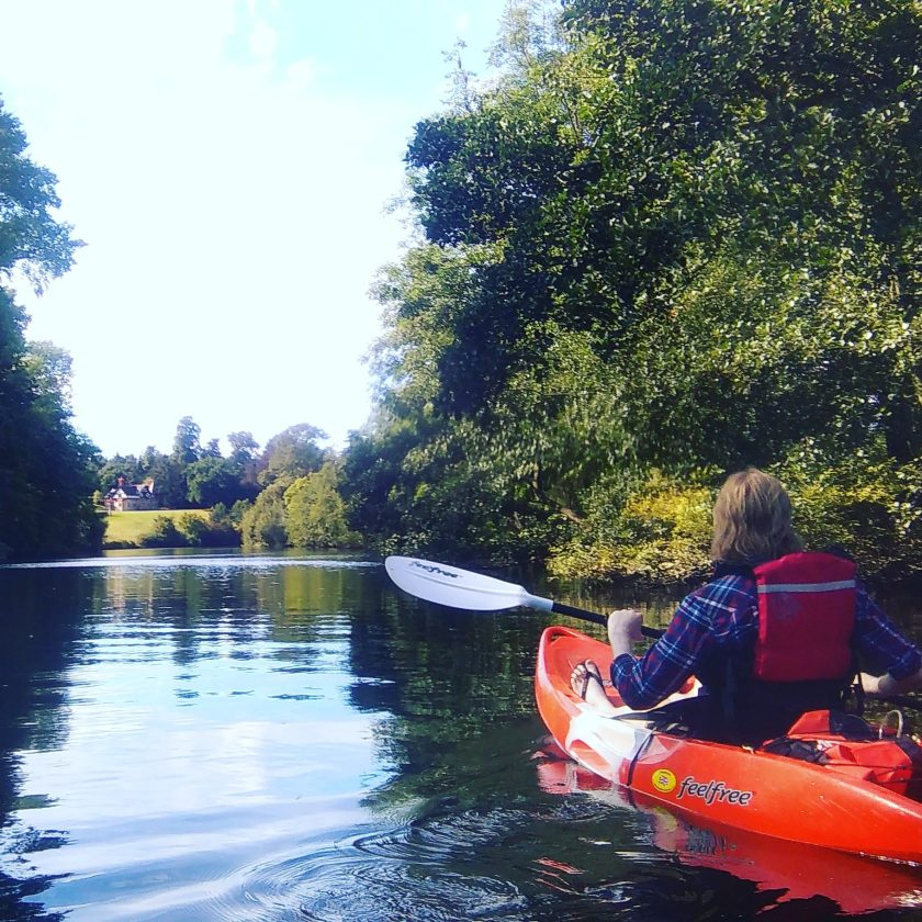 Kayaking river dee