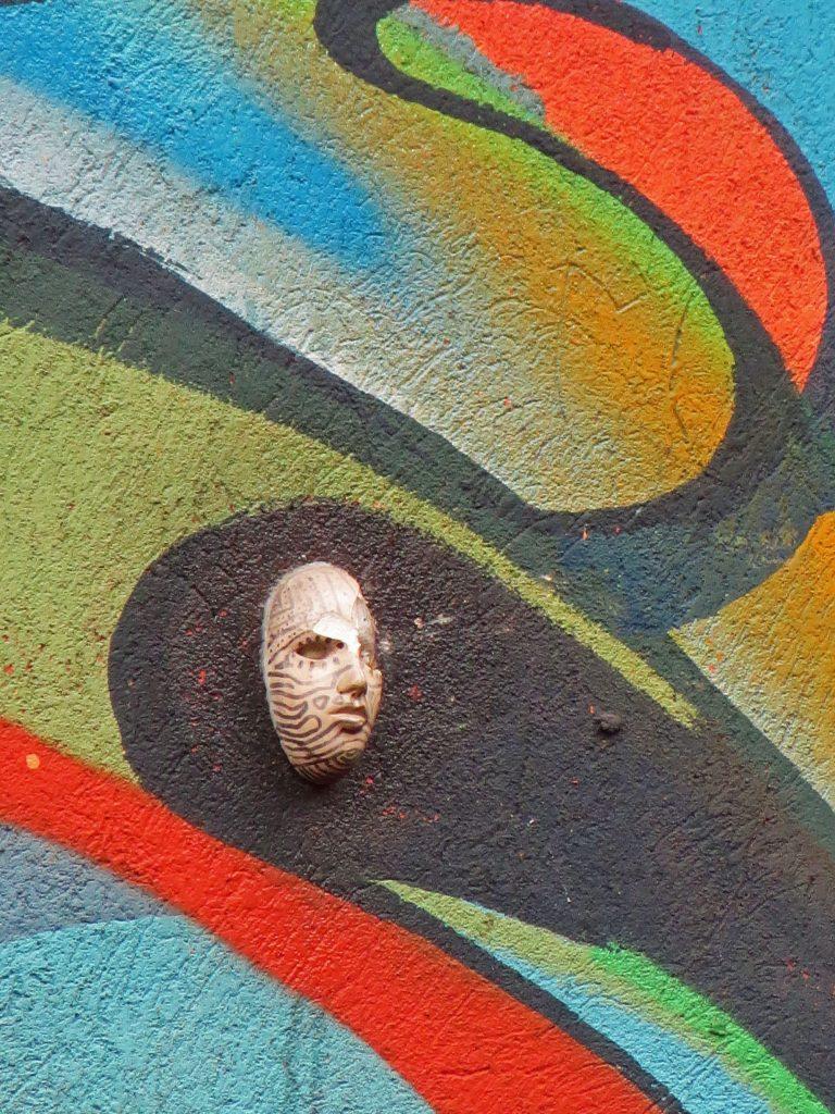 Bogota Street art mask