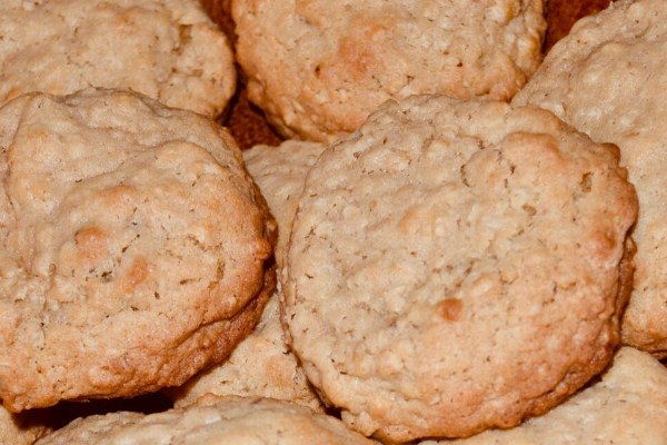 oatmeal cookies close up