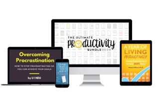 The complete honest review of The ultimate productivity bundle 2020, 73 courses, workbooks and ebooks in time management, planners, goal setting, positive mindset and more. Check it out!
