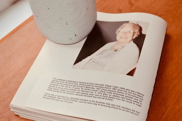 GREAT GRANNIE CHEVIE AND HER COOKBOOK DEDICATION
