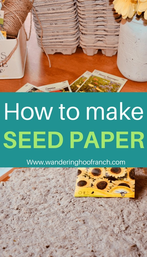 How to make seed paper pin image