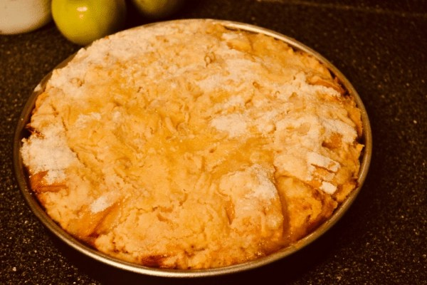 finished fathers apple cake cooling on rack