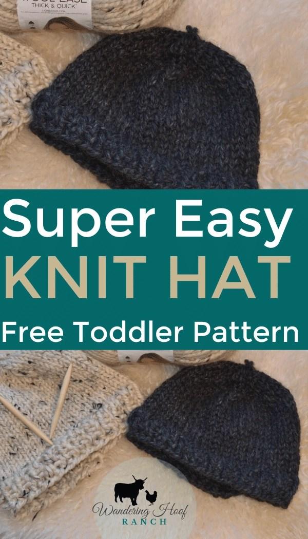 knit toddler hat pin image