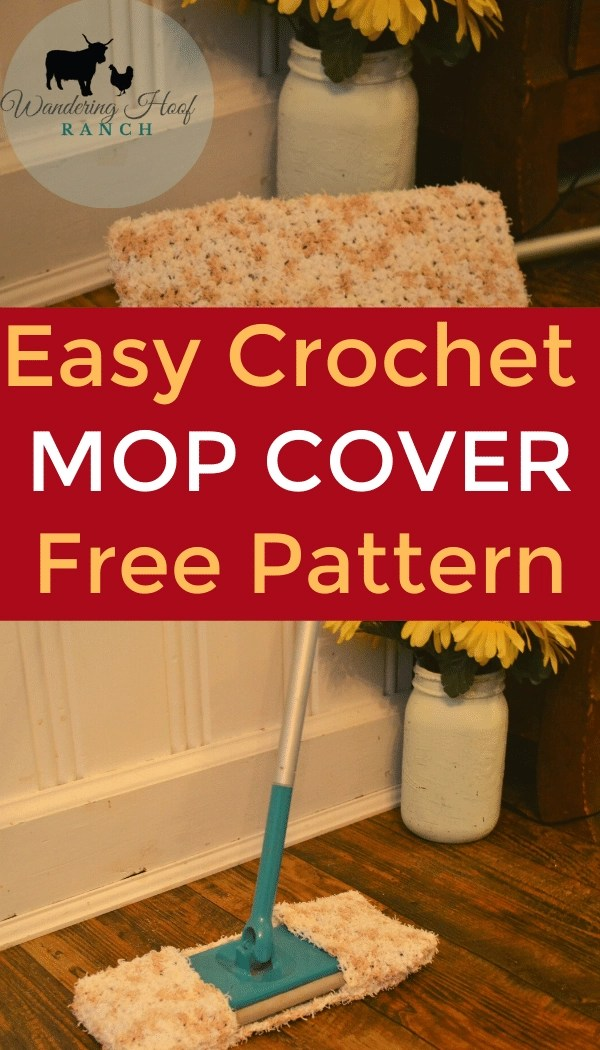 easy crochet mop cover free pattern