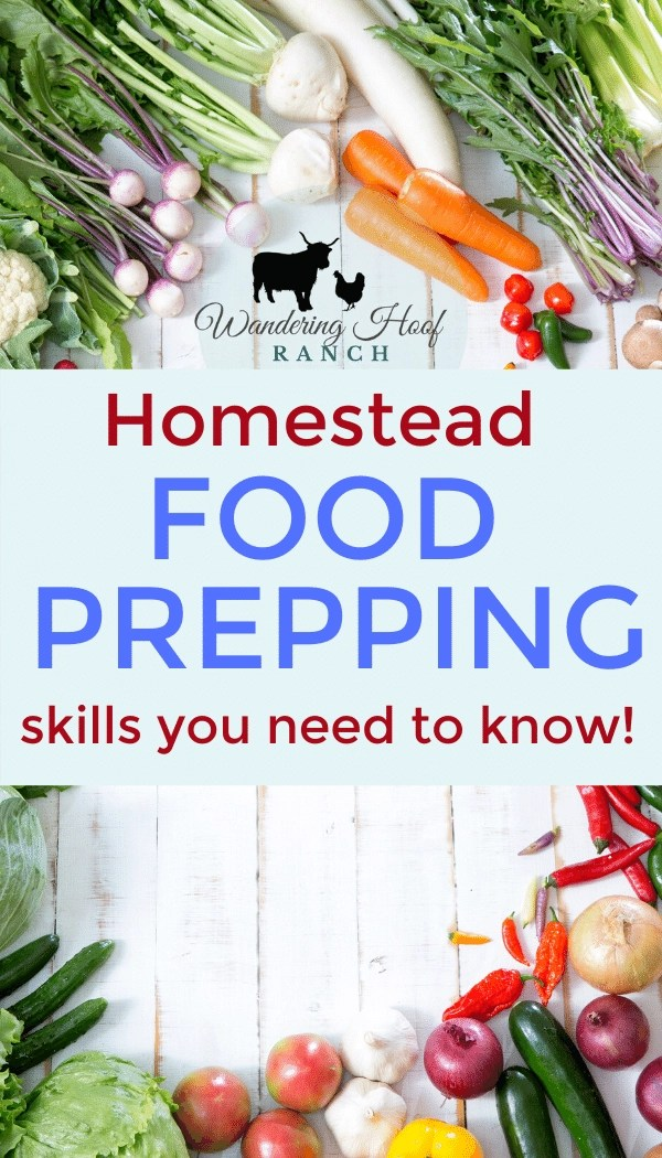 homestead food prepping skills you need to know! pin image for food security