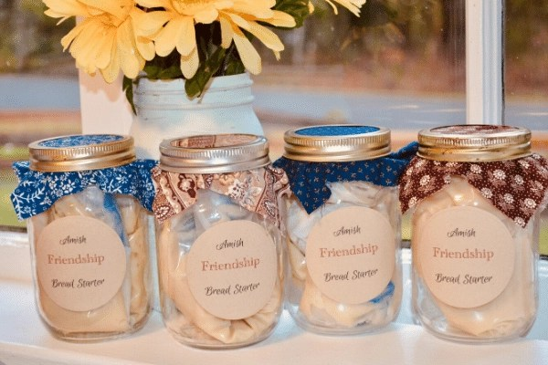 amish friendship bread starter jars