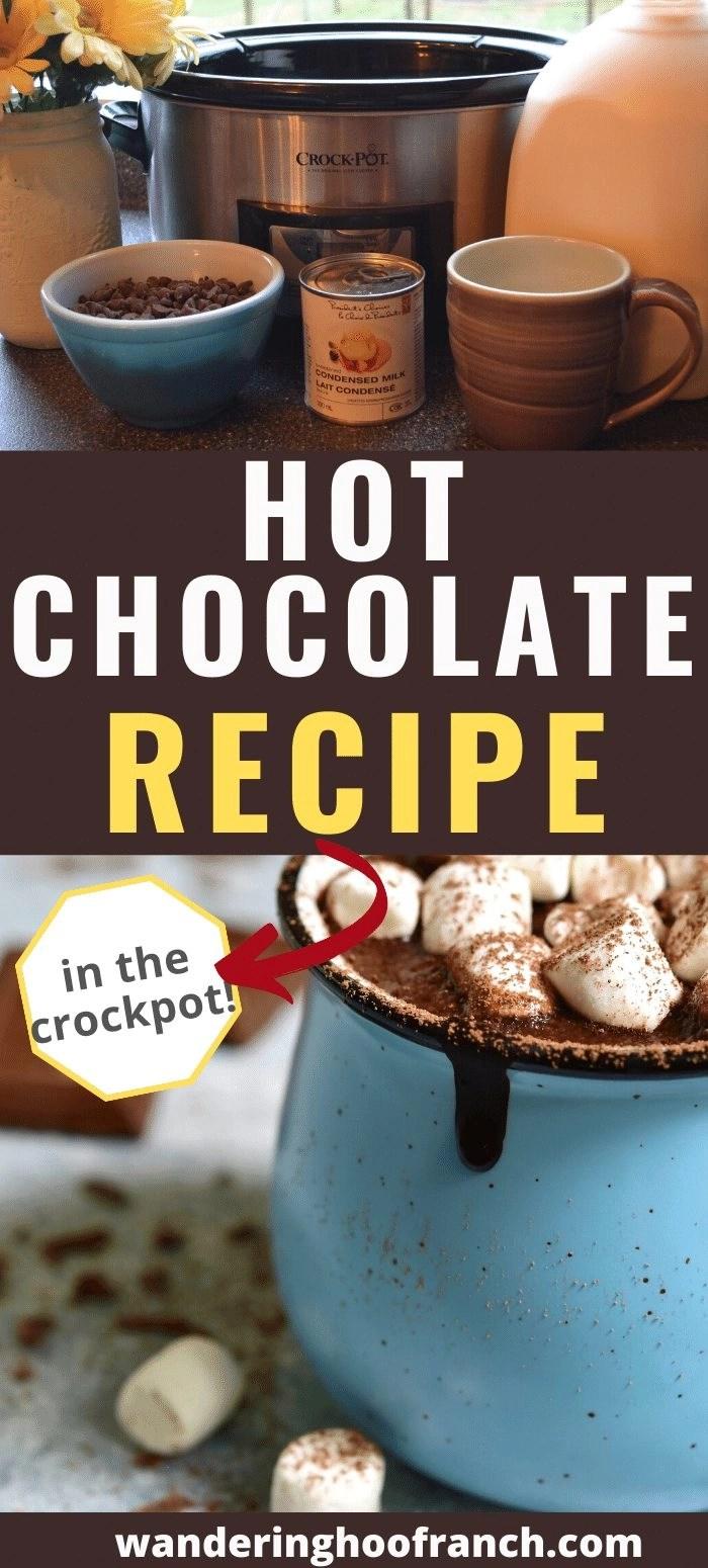 crockpot hot chocolate pin image