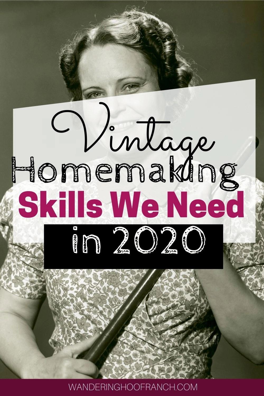 Vintage Homemaking Skills we need in 2020 image