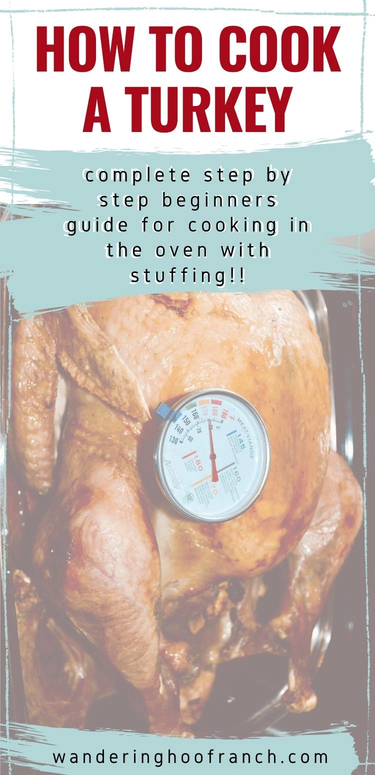 How to cook a turkey step by step beginners guide image with picture of roasting turkey