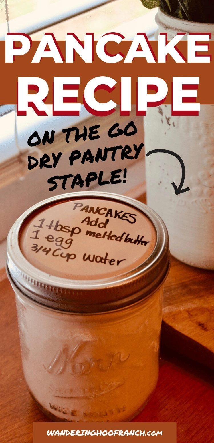 dried pancake mix recipe in mason jar pin image