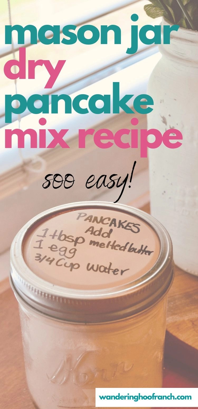 mason jar dry pancake mix recipe