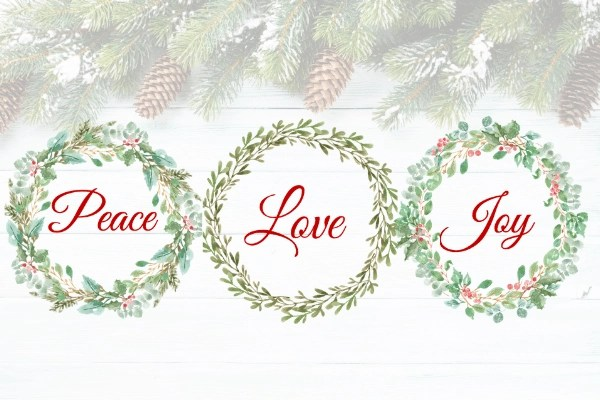 peace love joy printable