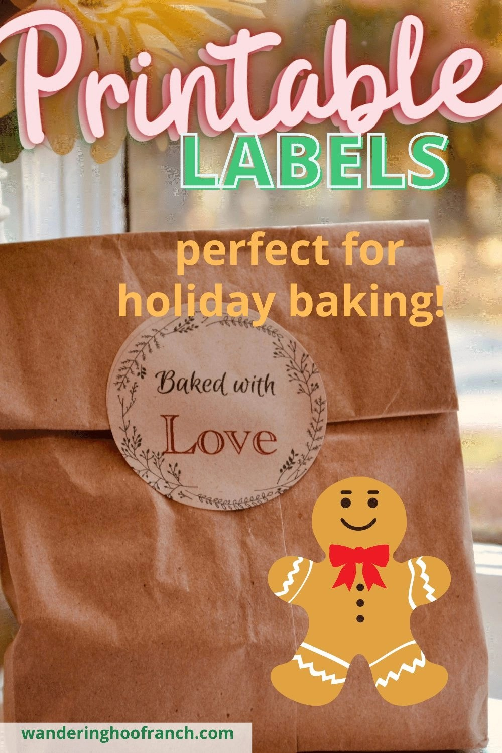 free printable labels perfect for holiday baking!