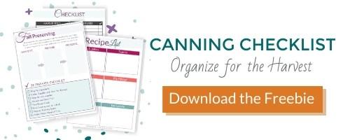 canning checklist
