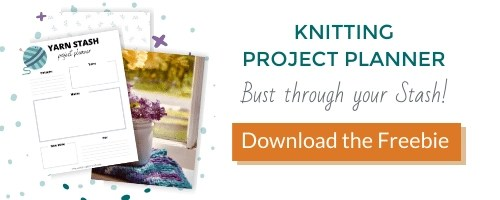 knitting project planner free download call to action, hero image picture and button