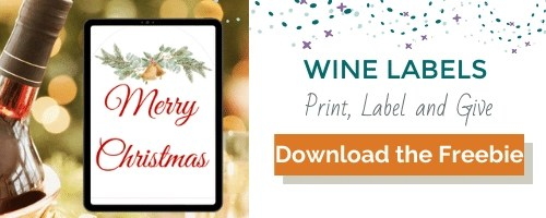 Merry Christmas Wine Labels