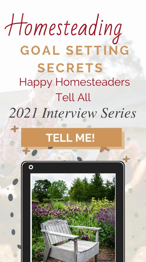 Happy homestead Interview series pin image.