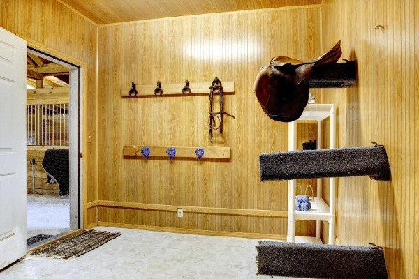 tack room at a horse boarding business