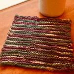 garter stitch knit dishcloth