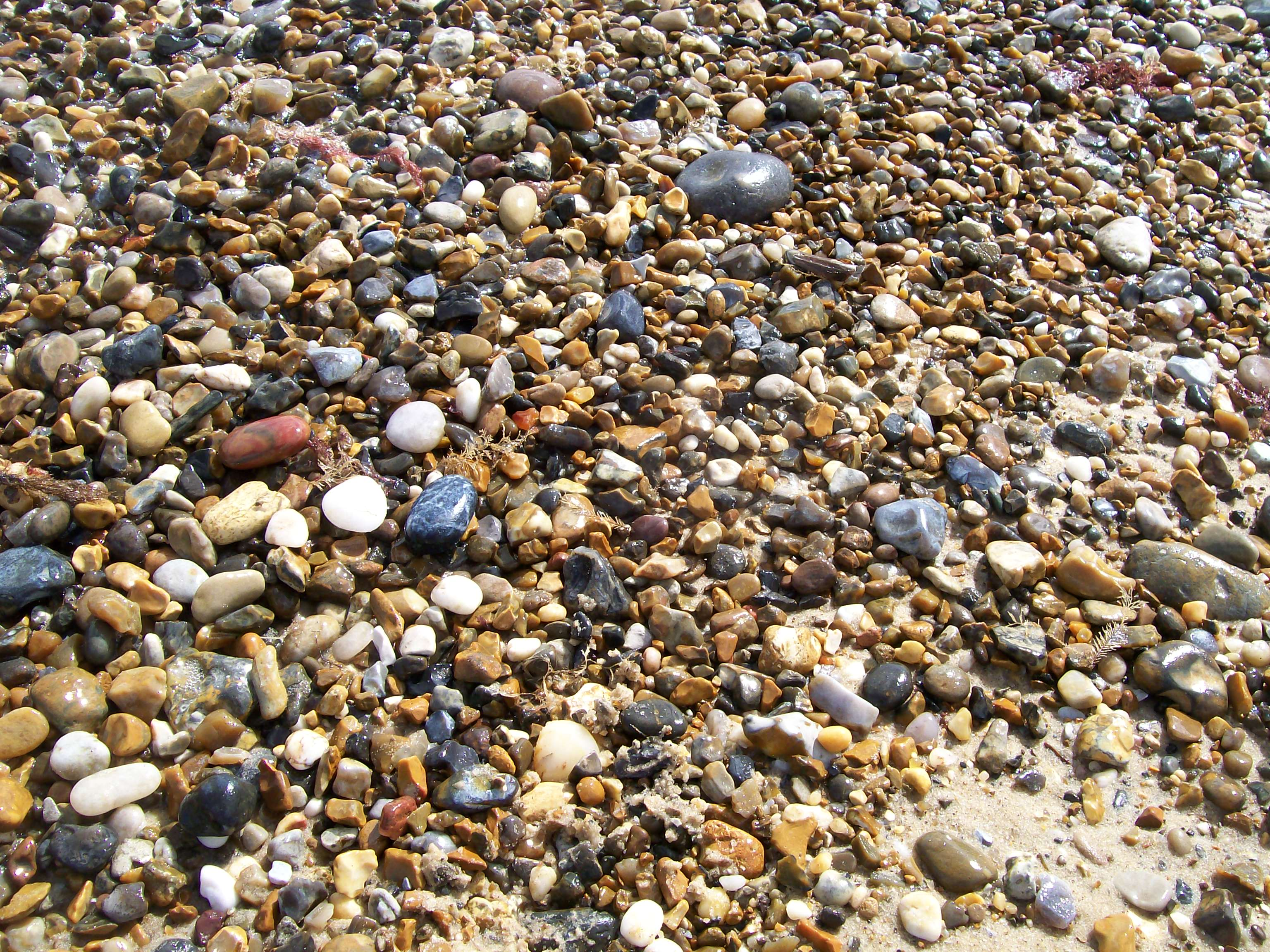 salt water pebbles