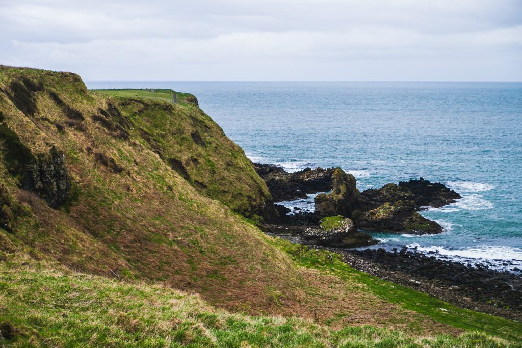 cliffs along irish north coast