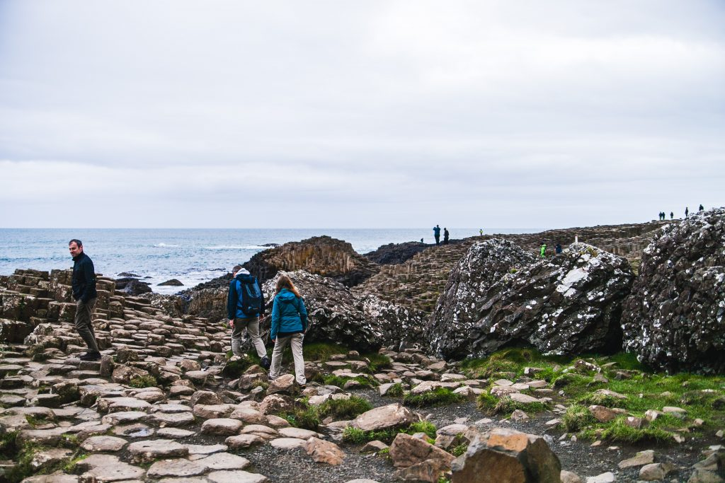 tourists at giants causeway ireland