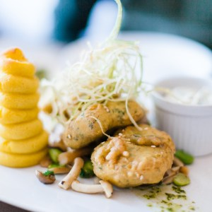 Schnitzel at Sova Vegan Butcher