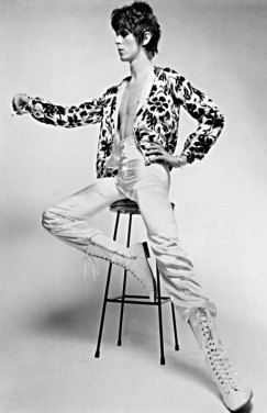 David Bowie in a bomber jacket