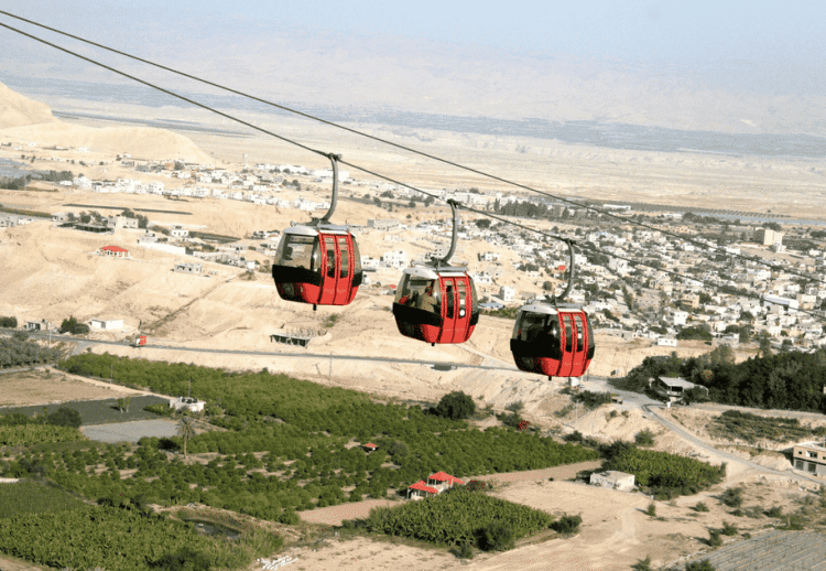 The cable car in Jericho.