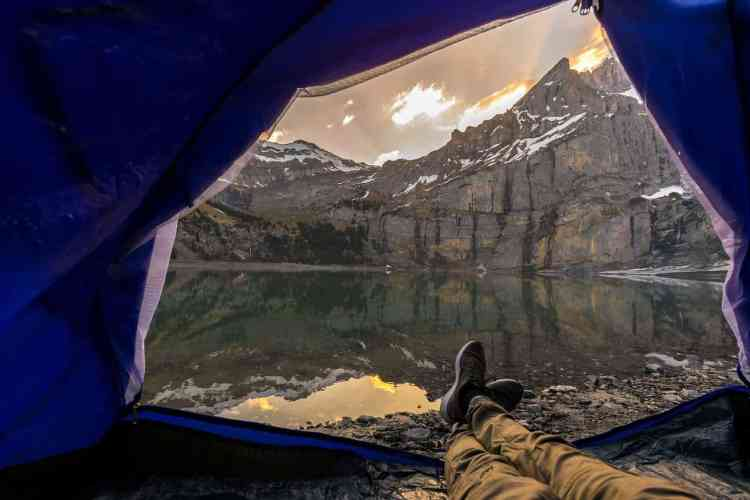Wild (free) camping in the Dolomites