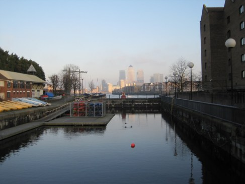 Regents canal end of the walk near Limehouse